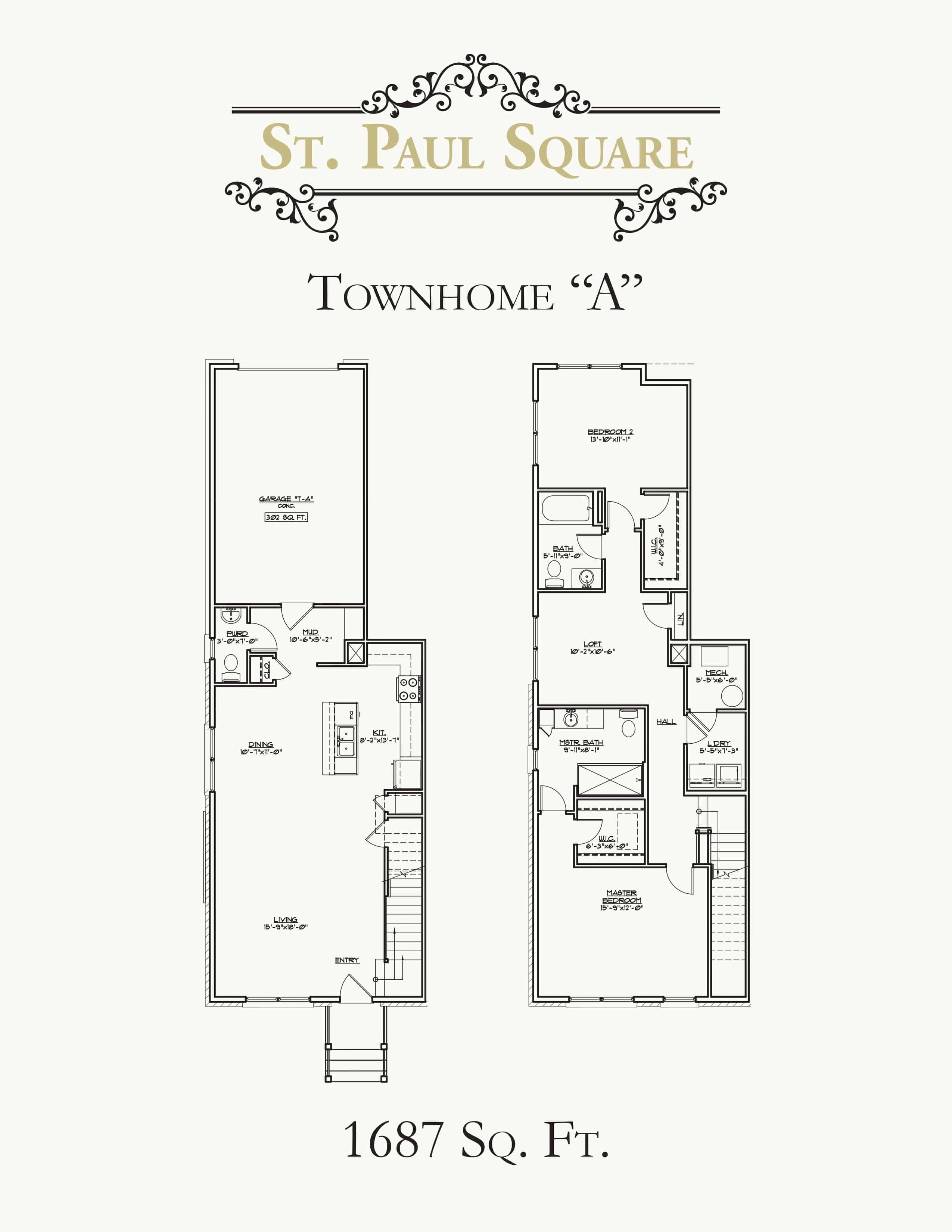 St Paul Square Townhouse A