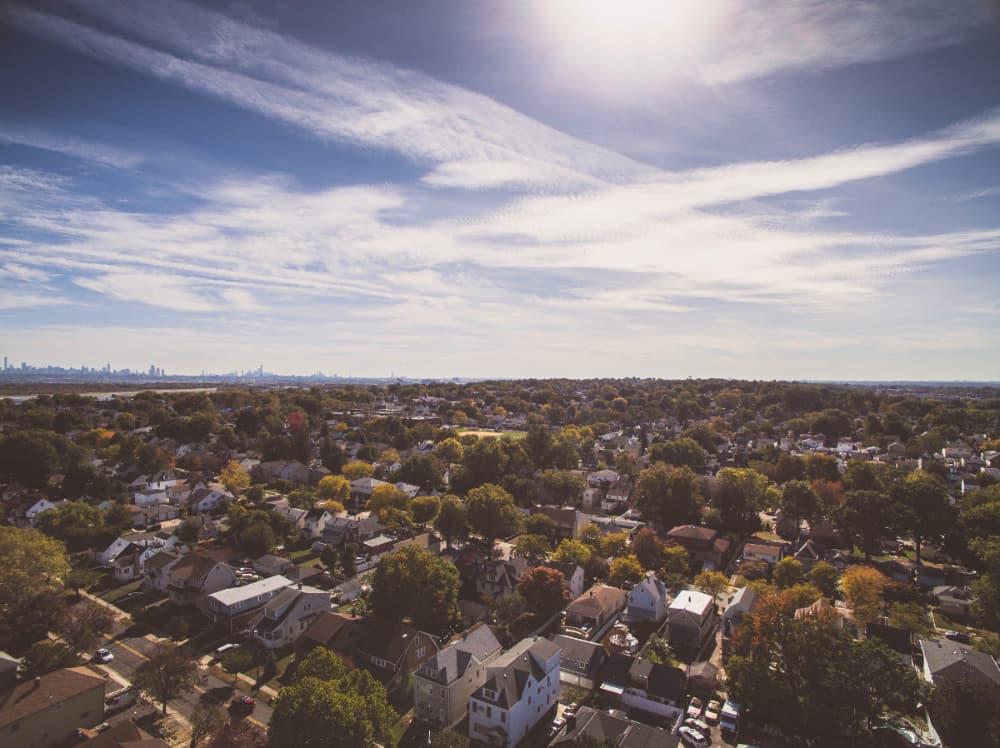 Skyview of a neighborhood